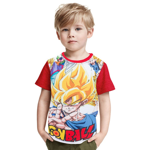 Dragon Ball Z Super Saiyan Fan Art Cool Design Kids T-Shirt