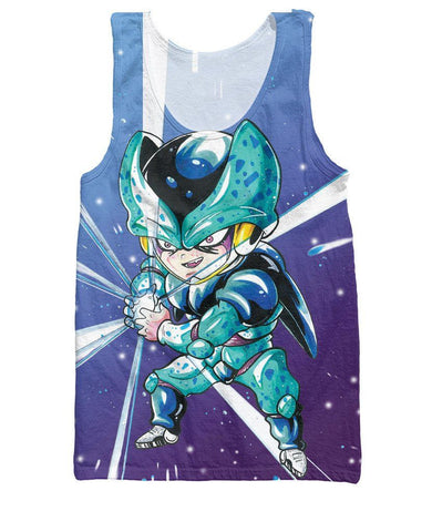 Cell Jr Special Edition Blue 3D Graphic HD Tank Top - Saiyan Stuff