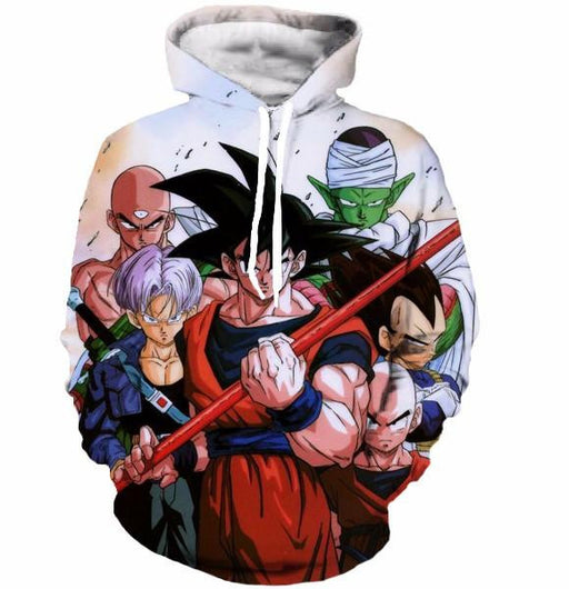 Cell Saga Goku Z-Fighters Warriors Characters Cool 3D Hoodie - Saiyan Stuff