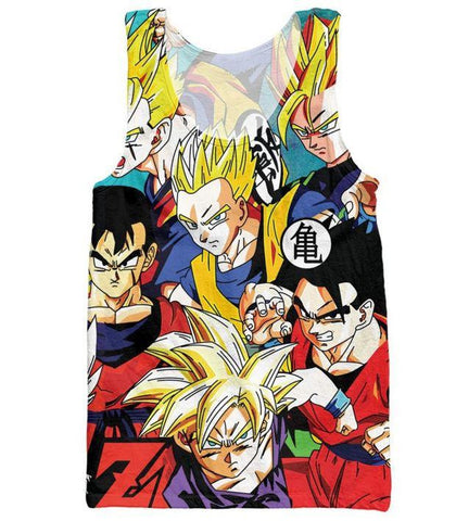 Classic Dragon Ball Z Cool Gohan Stylish 3D Tank Top - Saiyan Stuff