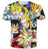 Classic Dragon Ball Z Cool Gohan Stylish 3D T-Shirt - Saiyan Stuff