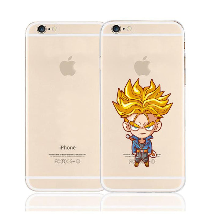 Cute Angry Trunks Super Saiyan Character Back Cover for iPhone 6 6s Plus