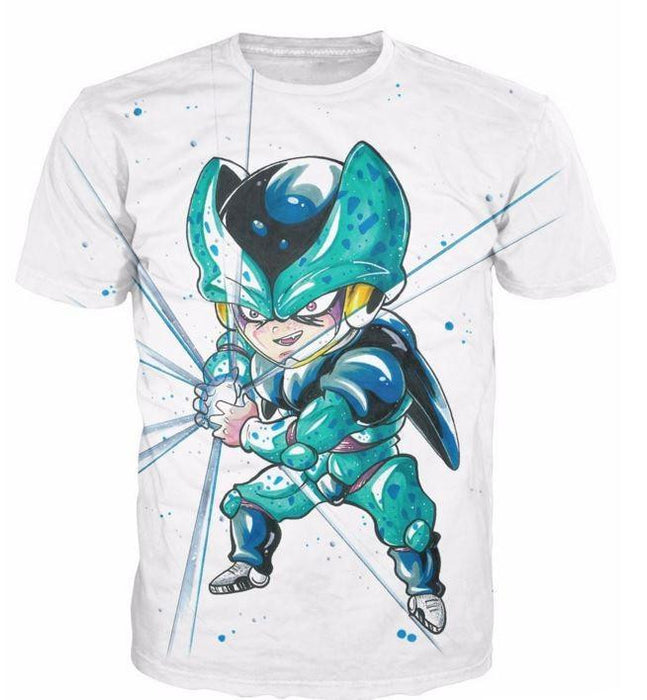 Cute Baby Kid Mini Cell DBZ Cell Junior Fun T-Shirt - Saiyan Stuff