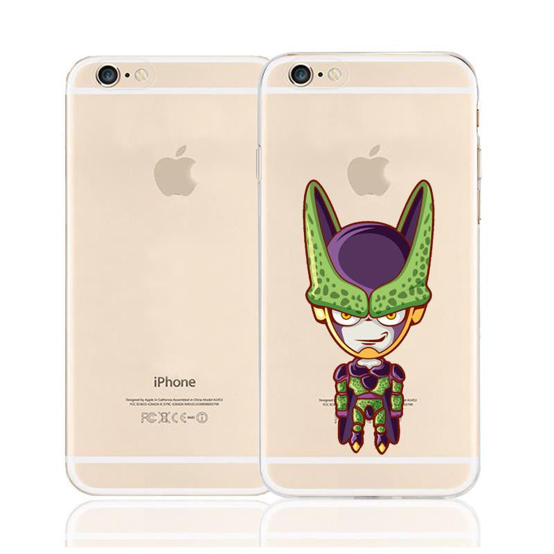 Cute Chibi Cell Perfect Warrior Character Back Cover for iPhone 6 6s Plus