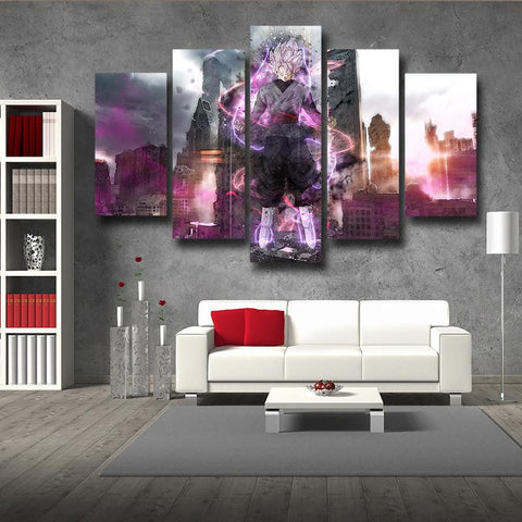 DBS Goku Black Modern City Decor 5pc Poster Canvas Prints Wall Art
