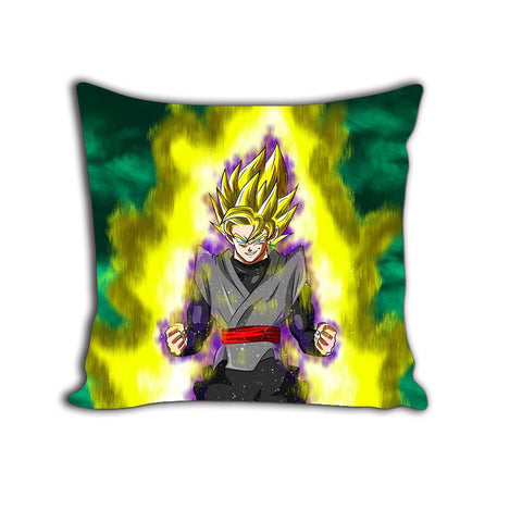 DBS Super Saiyan Goku Black Evil Yellow Aura Decorative Throw Pillow