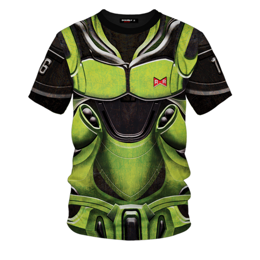 Dragon Ball Z Android 16 Armor Suit Cosplay Green T-Shirt