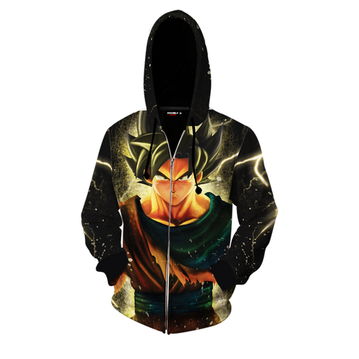 Dragon Ball Z The Remarkable Son Goku Black Zip Up Hoodie