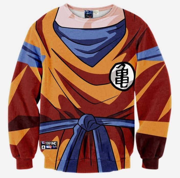 DBZ - Goku Costume Skin Gear Armour 3D Sweatshirt - Saiyan Stuff
