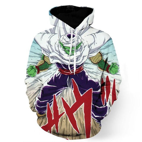 DBZ Anime Piccolo Evil King Anger Release Full Print Cool Design Hoodie
