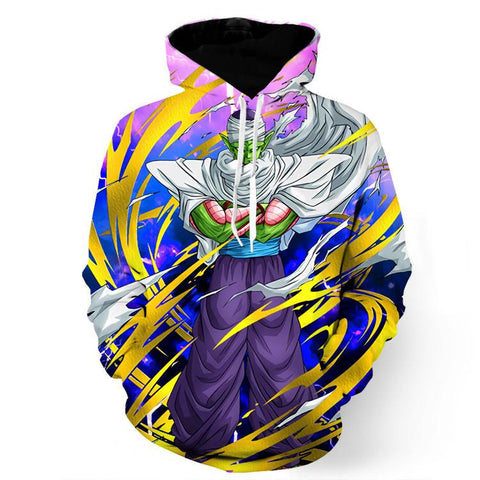 DBZ Anime Piccolo Evil King Tornado Power Streetwear Cool Design Hoodie