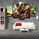 DBZ Art Goku Vegeta Shenron Vibrant Style 5pc Wall Art Decor Canvas Prints