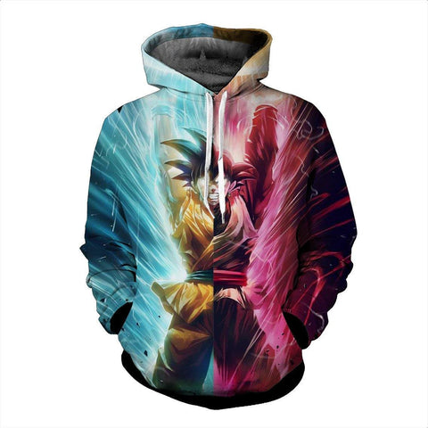 DBZ Black Goku Kakarot Spirit Bomb Destruction Streetwear Dope Hoodie