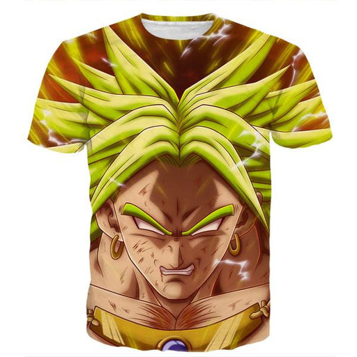 DBZ Crazy Broly Super Saiyan Attack Powerful Danger Trendy Design T-Shirt - Saiyan Stuff