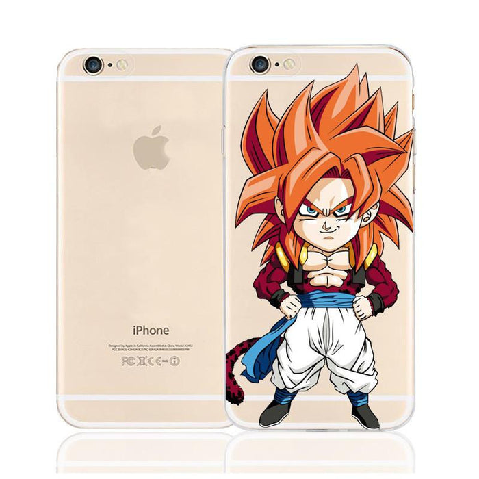 DBZ Cute Chibi Goku SSJ4 Monkey Character Back Cover for iPhone 6 6s Plus