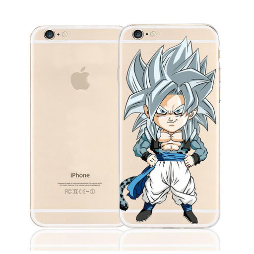 DBZ Cute Chibi Goku Super Saiyan SSJ5 Character Back Cover for iPhone 6 6s Plus