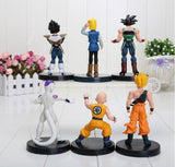 DBZ Figure Set 6pcs 5' Goku Bardock Vegeta Android 18 Krillin Frieza -  - 3
