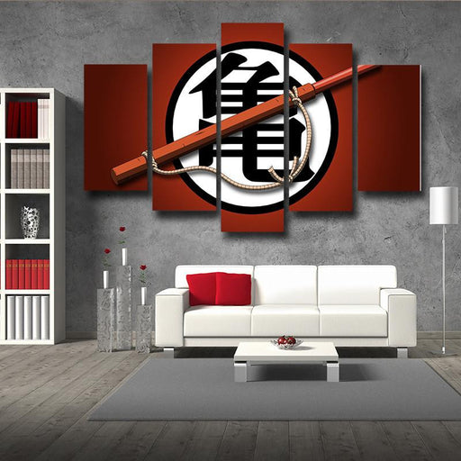 DBZ Go Symbol Japan Kanji Minimalist Style 5pc Canvas Prints Wall Art