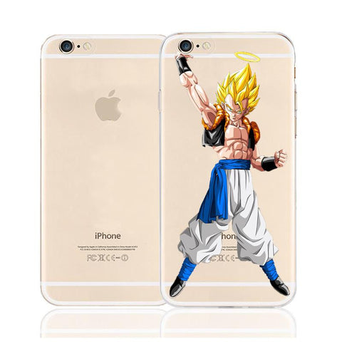 DBZ Gogeta Super Saiyan Fusion Character Back Cover for iPhone 6 6s Plus