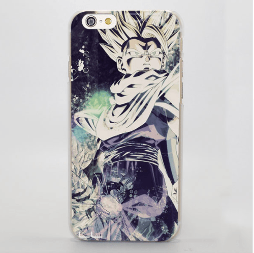 DBZ Gohan Kid Super Saiyan Fading Color Vibe Vintage iPhone 4 5 6 7 8 Plus X Case