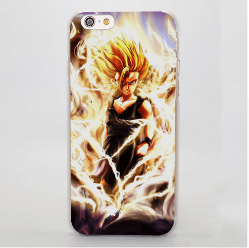 DBZ Gohan Kid Super Saiyan Fan Art Design Graphic iPhone 4 5 6 7 8 Plus X Case