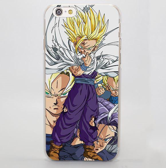 DBZ Gohan Kid Super Saiyan Goku Vegeta Trunks iPhone 4 5 6 7 Plus Case