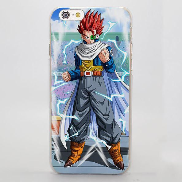 DBZ Gohan Red Hair Capsule Corp Fight Design iPhone 4 5 6 7 Plus Case