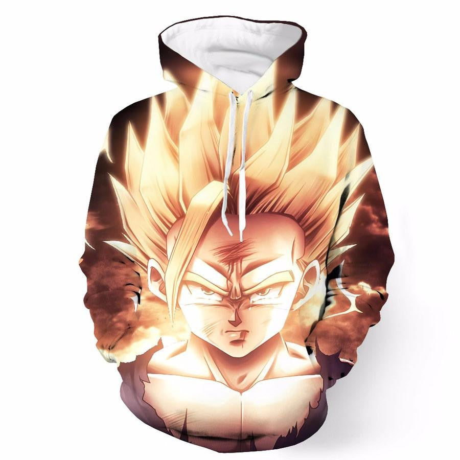 DBZ Gohan Super Saiyan Sad Angry Tear Thunder Cool Design Hoodie - Saiyan Stuff - 1