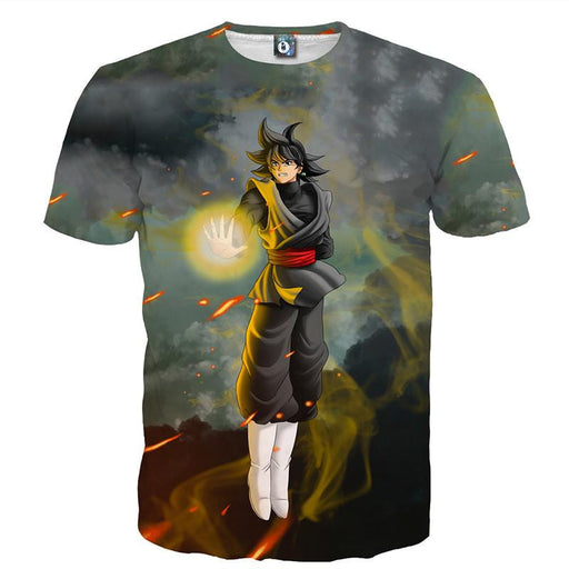 DBZ Goku Black Zamasu Potara Fusion Realistic Drawing Style Cool T-Shirt