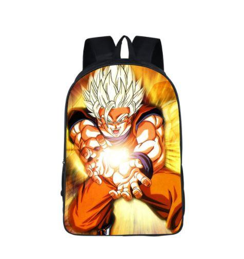 DBZ Goku Cast Kamehameha Power Blast School Backpack Bag
