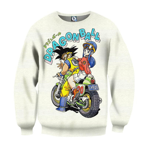 DBZ Goku Chi-Chi Biker Motorbike Glasses Cool Design Graphic Sweater