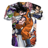 DBZ Goku Fighting Stance Gohan Piccolo Krillin Vegeta Frieza Color T-Shirt