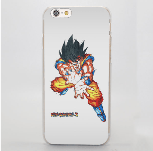 DBZ Goku Kamehameha Energy Yellow Portrait iPhone 4 5 6 7 8 Plus X Case