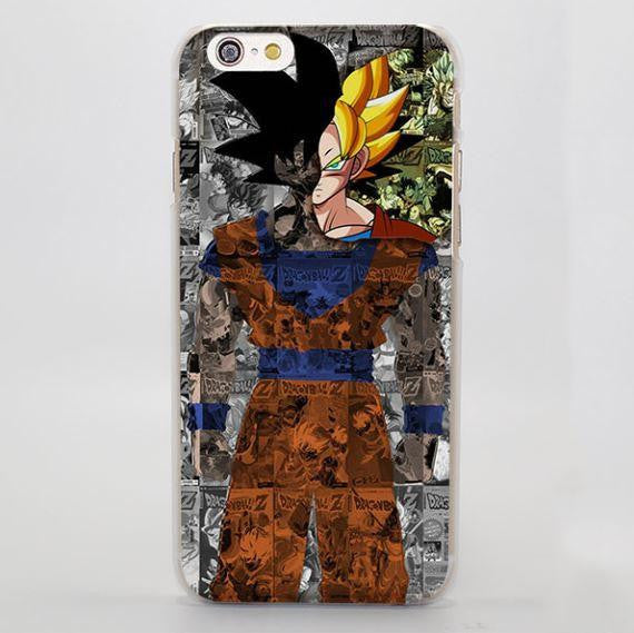 DBZ Goku Reveal Portrait Art Manga Cover iPhone 4 5 6 7 Plus Case