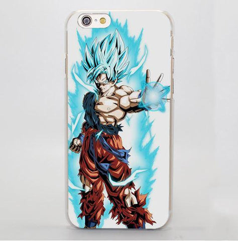 DBZ Goku SSGSS God Blue Kamehameha Cool iPhone 4 5 6 7 Plus Case