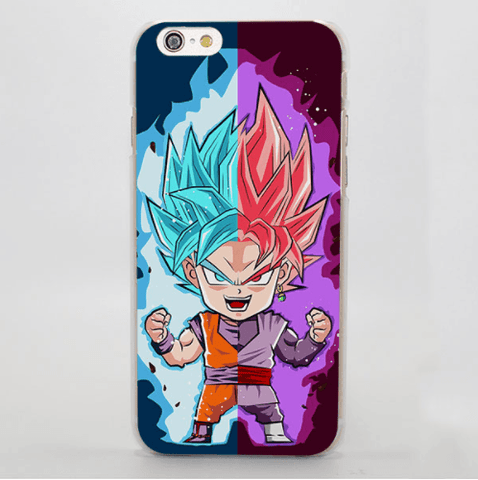 DBZ Goku SSGSS God Blue Rose Saiyan Chibi Theme iPhone 4 5 6 7 Plus