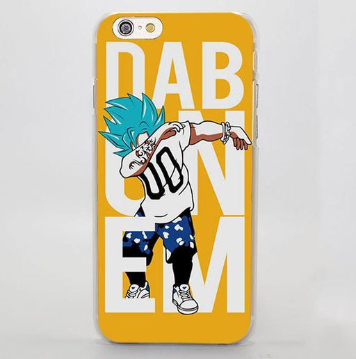 DBZ Goku SSGSS Saiyan Blue Dab Dance Design iPhone 4 5 6 7 Plus Case