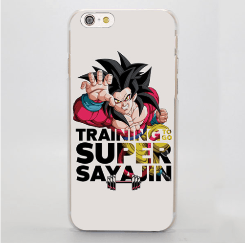 DBZ Goku SSJ4 Super Saiyan Workout Motto Awesome iPhone 4 5 6 7 8 Plus X Case