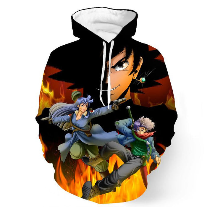 DBZ Goku Saiyan Potara Fusion Medic Warrior Fight Sword Pocket Hoodie - Saiyan Stuff