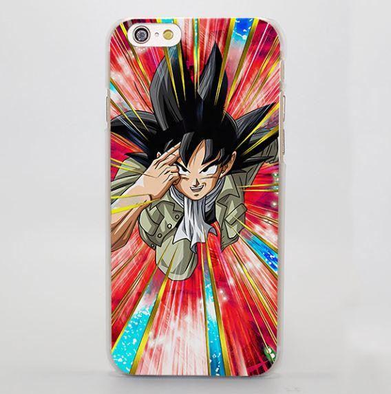 DBZ Goku Saiyan Teleportation Vibrant Art iPhone 4 5 6 7 Plus Case