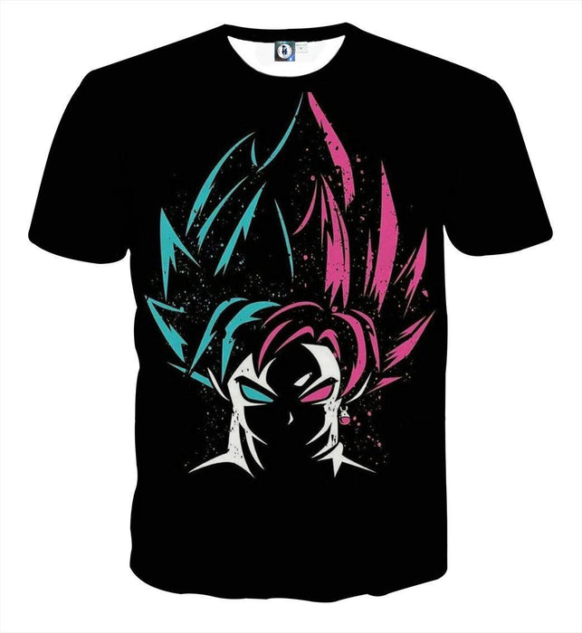 DBZ Goku Super Saiyan God Blue Rose SSGSS Dope Design T-Shirt