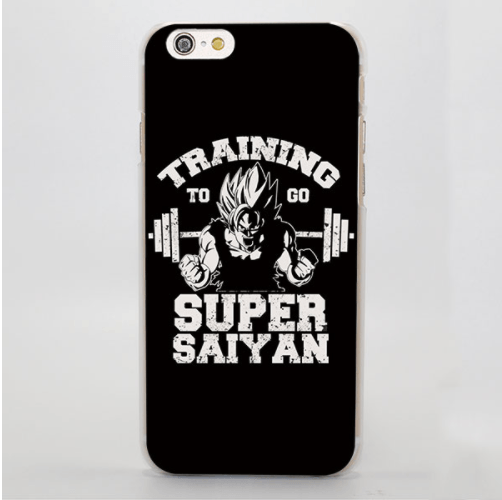 DBZ Goku Super Saiyan Gym Motivated Slogan Black iPhone 4 5 6 7 8 Plus X Case