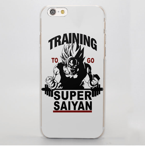 DBZ Goku Super Saiyan Gym Motto Motivation White iPhone 4 5 6 7 Plus Case