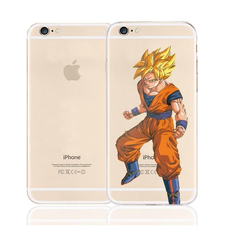 DBZ Goku Super Saiyan Ready Fighting Character Back Cover for iPhone 6 6s Plus
