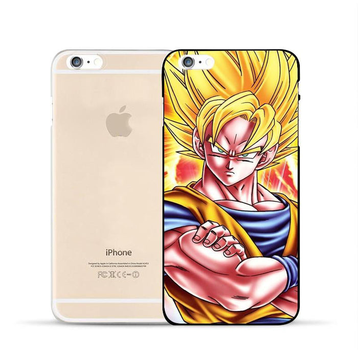 DBZ Goku Super Saiyan Muscular SSJ2 Epic Fan Art Design Hard PC iPhone 5 6 7 s Plus Case