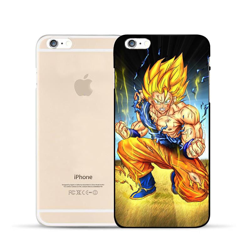 DBZ Goku Super Saiyan Thunder Power Damage Fight  Hard PC iPhone 5 6 7 s Plus Case