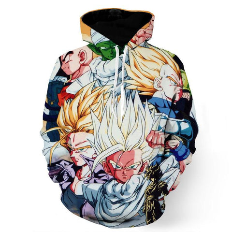 DBZ Goku Vegeta Gotenks Piccolo Krillin Fusion Dance Cool Design Hoodie
