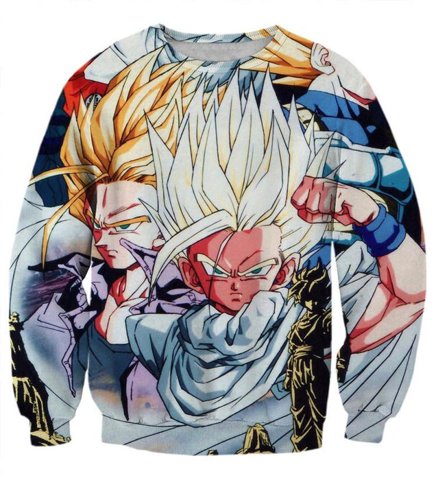 DBZ Goku Vegeta Trunks Son Gohan Super Saiyanjin Cool Design Sweatshirt