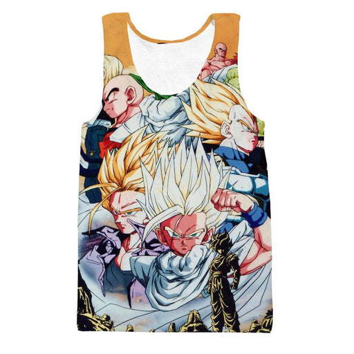 DBZ Goku Vegeta Gohan Piccolo Krillin Fusion Dance Cool Design Tank Top