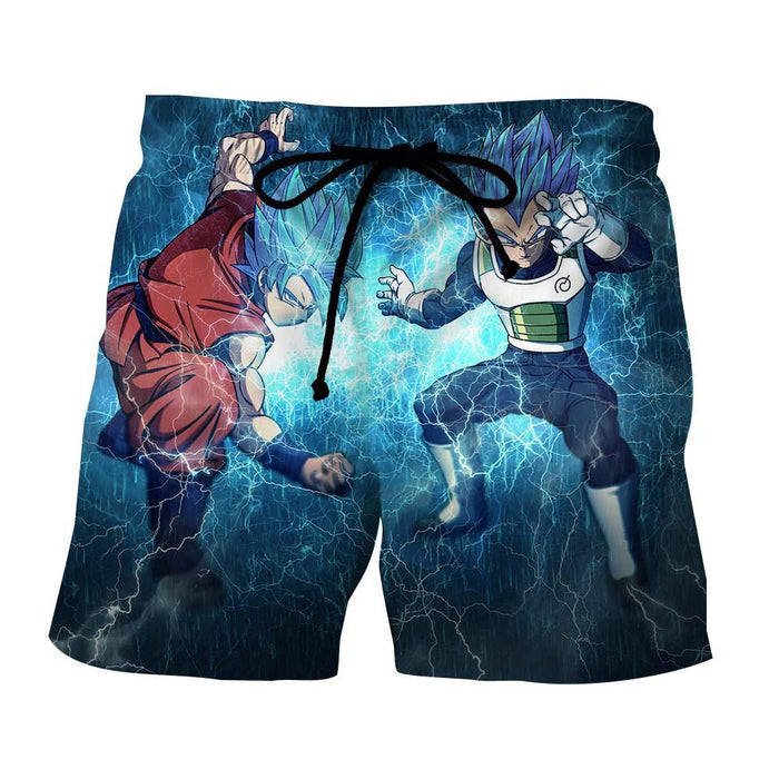 DBZ Goku Vegeta SSGSS Super Saiyan God Blue Awesome Style Summer Shorts